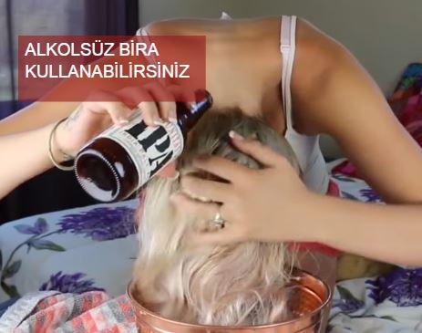 Bira Yöntemi ile Saç Uzatma