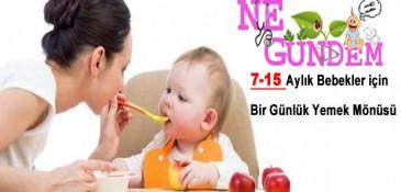 Bebekler için Bir Günlük Yemek Menüsü